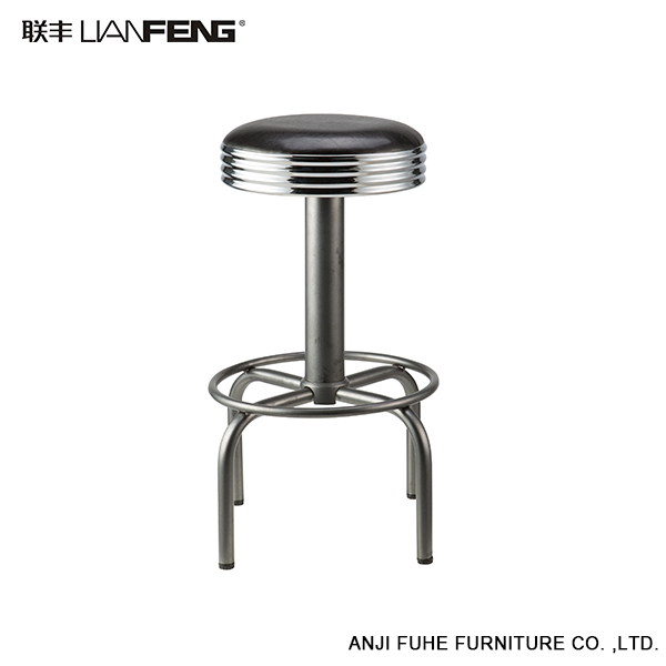 Anji cheap round ABS modern high bar stool chairs for commercial use
