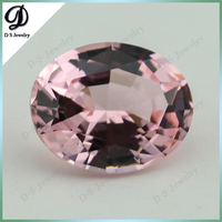 28# Nanosital Pink Gemstone Lady's Jewelry 8*10mm Oval Synthetic Morganite