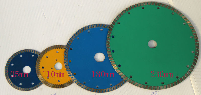 Premium Dry Cut Granite Turbo Diamond Saw Blade from 105mm to 230mm