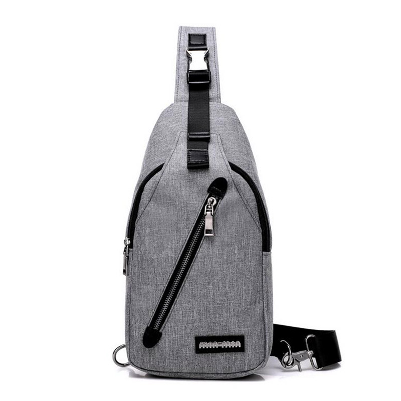 Leisure Wearproof Academy Style Men Canvas Single Shoulder Bag Trend All-Match Sports Messenger Bags For Students MT101289