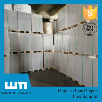 250gsm coated duplex board paper with grey back for packing