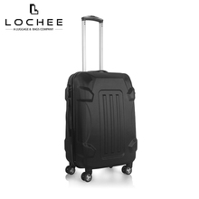 ABS Black Hardshell Trendy Personalize Trolley 20/24/28 Inch Luggage Set