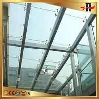 Fashion OEM tempered laminated glass door canopy