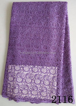 2015 lilac color guipure lace fabric wholesale/ high quality African lace fabrics (made in China)