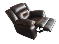 Home Furniture pu/fabric sofa breathable leather recliner sofa