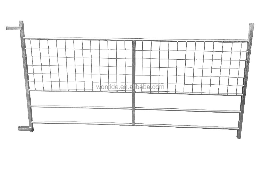 Heavy duty galvanized metal farm gates/Factory direct hot dipped galvanized portable cattle fence
