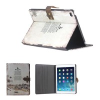 retro genuine leather case for ipad air 2 case with stand
