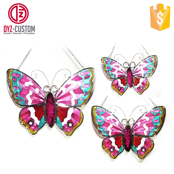 Hanging Glass Butterfly Suncatcher for home decoration