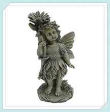 polyresin decorative resin urns fairy angel,resin flower fairy