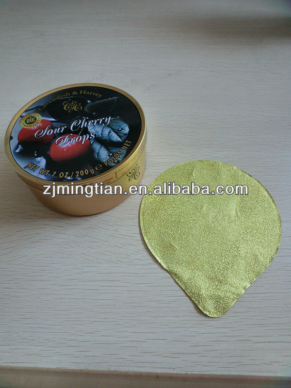 Aluminium Foil embossing tinplate can lids candy
