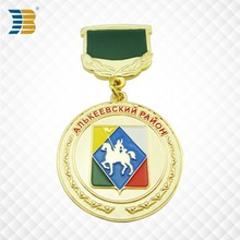 Customers design enamel <strong>crafts</strong> The army medal top part with fabric on