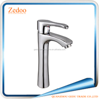 Brass Body Single Handle Hot & Cold Water Basin Taps In Bathroom ZD-12150A