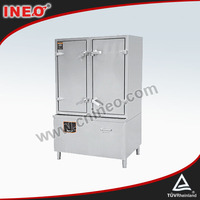 Industrial Double Doors Electric Induction Commercial Rice Steamer/Commercial Bun Steamer