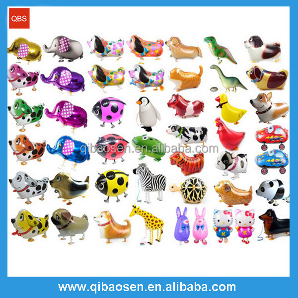 Hot sale animal shape low moq wholesale walking pet balloon