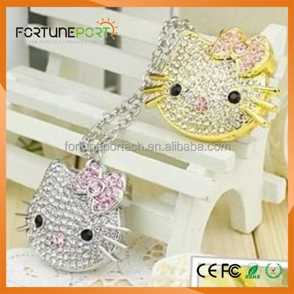 kawaii desu ne catty usb flash drives diamond luxury usb pendrive bulk cheap 1gb with high quality