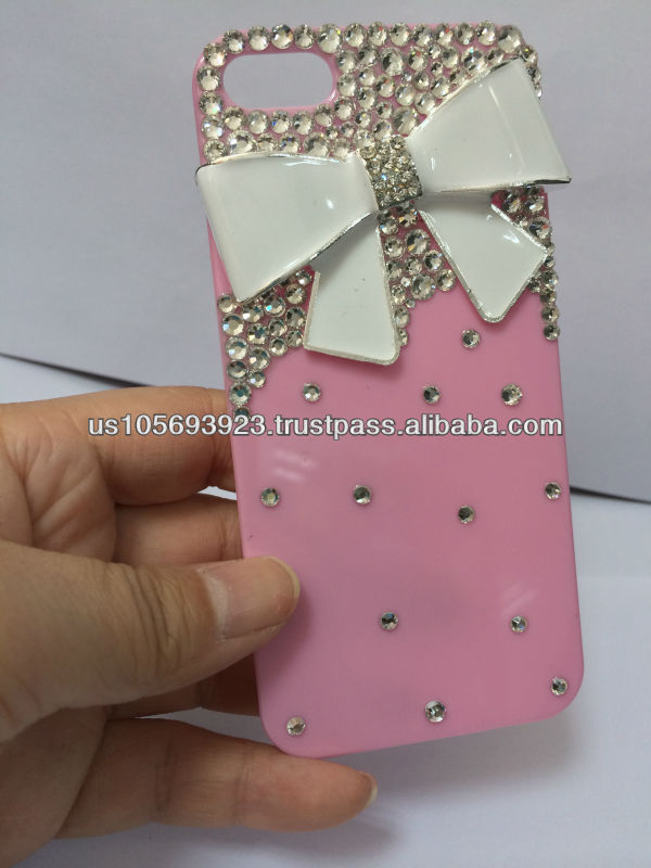 Bow Diamond Crystal Bling Case For Iphone 4 4s 5 5s