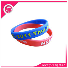 Promotional Custom Color Filled wide silicone bands/silicone hand bands