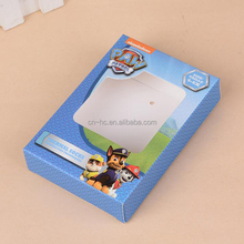 Factory price custom clear square window presentation folding display paper box for kids socks packing box