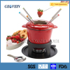Wholesale cast iron cheese fondue set, cheese set