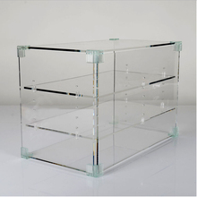customized clear acrylic cupcake display cabinet acrylic cake display case