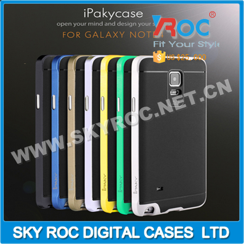 Ipaky PC +TPU Phone Back Case for Samsung Note 4