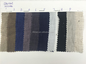Vintage delave washed linen fabrics for wholesale