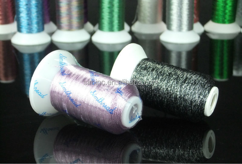 32 Colors Metallic Embroidery Thread 500M/Spool