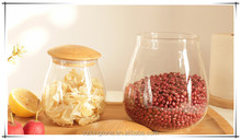 Mushroom shape Sealed glass storage jar wholesale