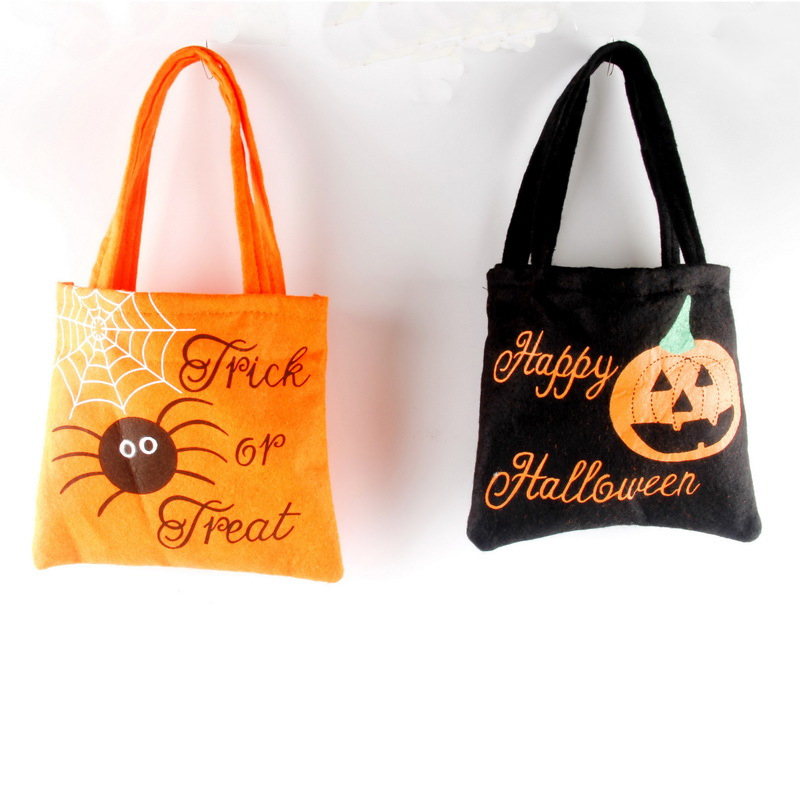 DM 544 Halloween non-woven bag spirit festival gift and suger candy orange Halloween tote