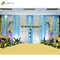 cheap ice silk custom backdrop stage wedding