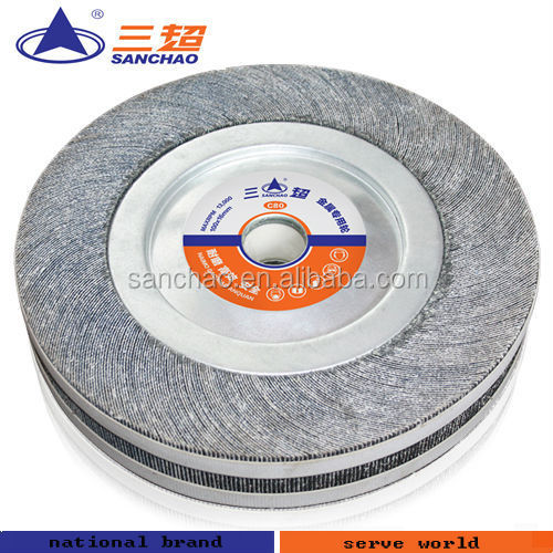 fiber polishing wheel / silicon carbide grinding paper wheel