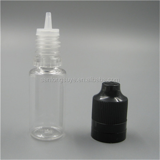 Zhejiang wholesale High quality empty e-liquid 10ml clear round dropper bottle with chldproof cap