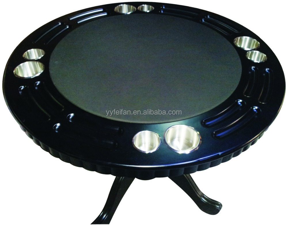 deluxe factory supply round casino poker table