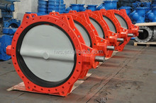 Bare Stem Ductile Iron U Type Butterfly Valve From China Supplier