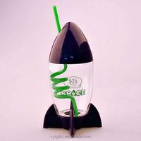 Walmart,SEDEX,300ml bpa free leakproof lower price Rocket Cup With Straw