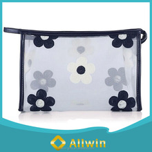 Ladies fashion waterproof travel clear cosmetic bag