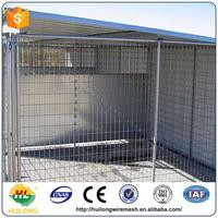 2016 new Chain Link Or Galvanized Comfortable 6X10X6 Dog Kennels For Dog ISO certificte