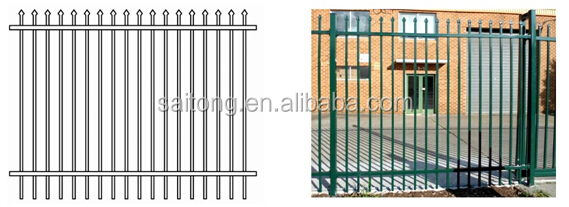 HDG Steel galvanized industrial outdoor pipe fence gate