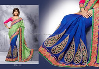 Indian Heavy Design Work Saree From India R7630