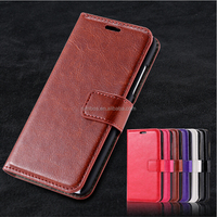 Classic Series Grain Leather Case Mobile Flip Card Slot Magnetic closure Stand Phone Cover for Iphone 8/ X /7 Plus /7