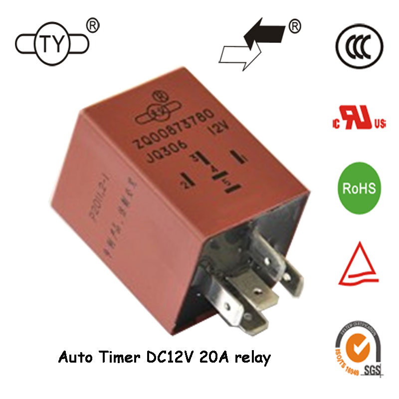 High Quality 20A Car Electrical 5Pin Auto Timer Relay 12V