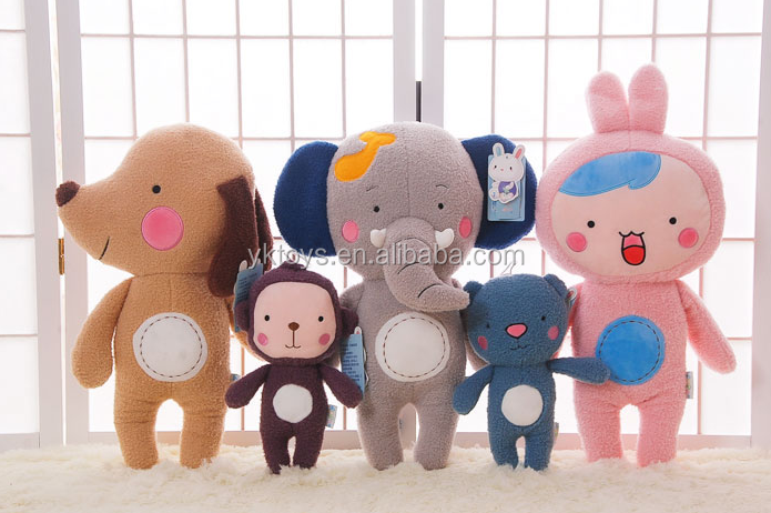 Custom design funny whole animal family toys stuffed soft animal toys