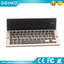 Luxury style mini portable wireless keyboard for ipad iPhone tablet pc