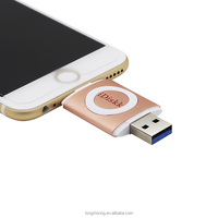 Wholesale price usb 3.0 flash drive 16gb 32gb 64gb real capacity iDiskk app iflash device for iPhone/ iPad/ iPod