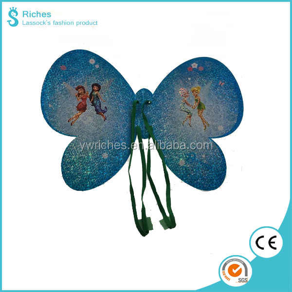 New Arrival Original Children Party Wing with paper Material, foldable fairy wing Cosplay Ice Princess