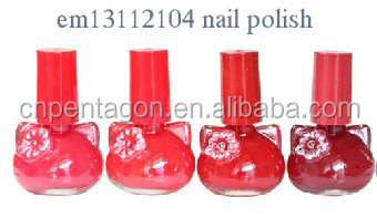 cute cat shape bottle girlish nail polish