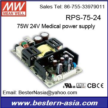 RPS-60-12 Mean well 24V 75W medical ac dc power supply Meanwell RPS-75-24