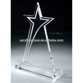 transparent acrylic trophy