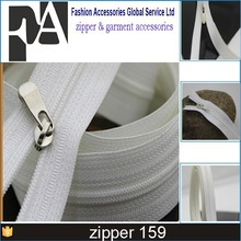 #3 nylon zipper roller chain nylon zipper long chain 4 mm nylon zipper