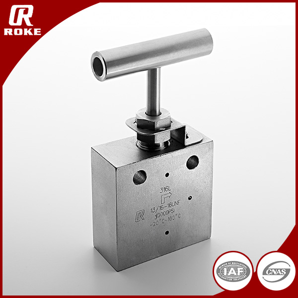 Forged Hydraulic 30000PSI Stainless Steel Needle Valve Super High Pressure Control